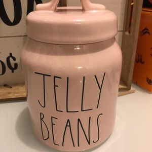 Rae dunn baby pink jelly beans canister